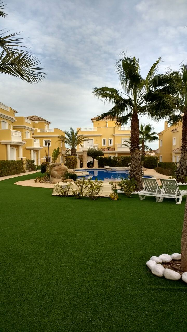 Villasol palmboom met tuin